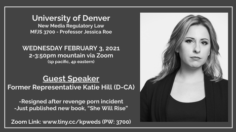 Thumbnail for entry Guest Speaker Katie Hill