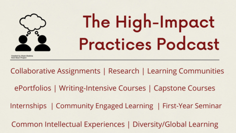 Thumbnail for entry Community Engaged Learning Podcast featuring Katie Kleinhesselink