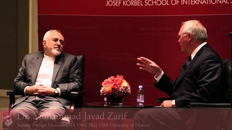Thumbnail for entry A Conversation with University of Denver Alumnus and Iranian Foreign Minister Mohammad Javad Zarif