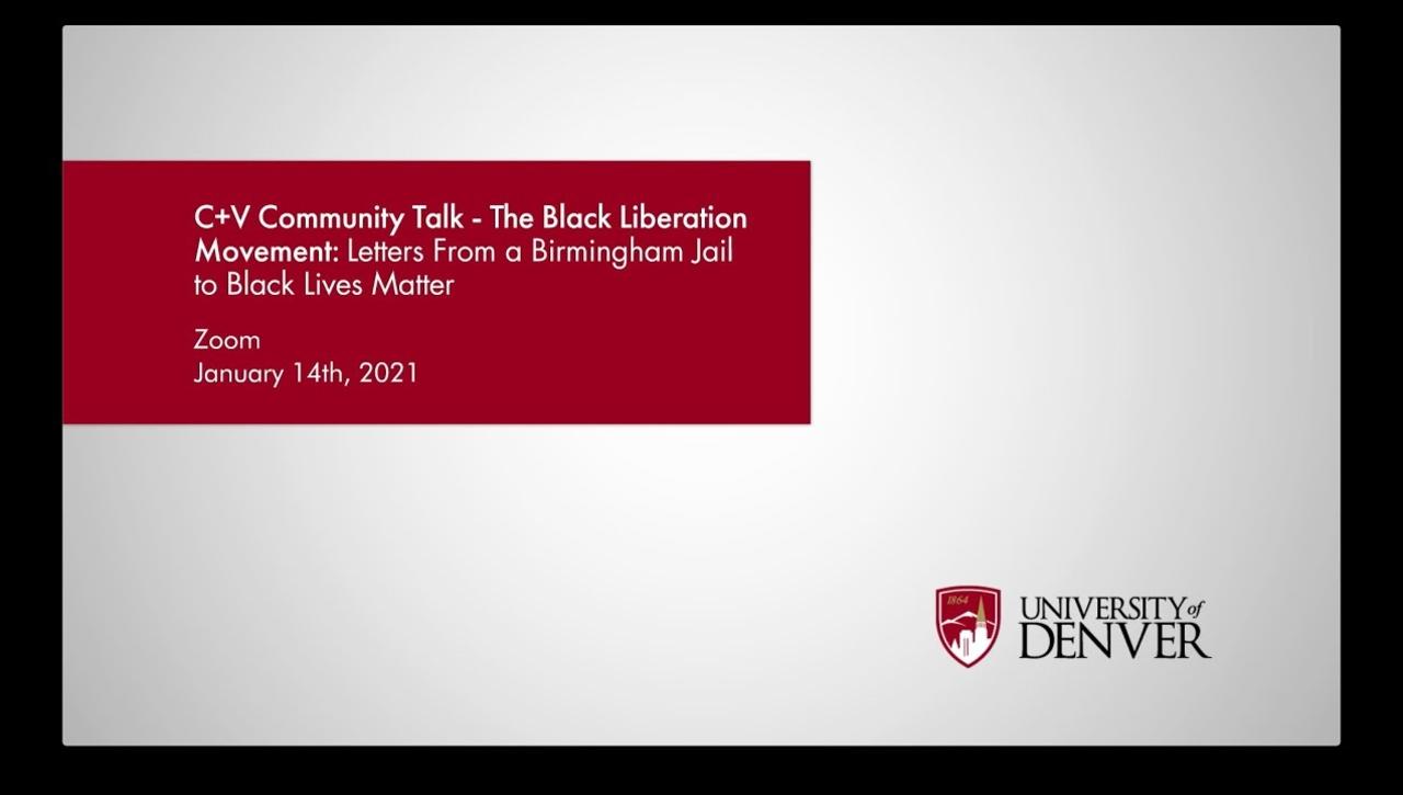 MLK Day Panel: The Black Liberation Movement | University of Denver