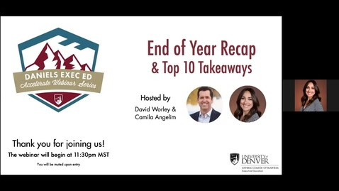 Thumbnail for entry Accelerate Webinar Series: End of Year Recap & Top 10 Webinar Takeaways