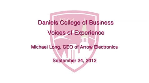 Thumbnail for entry Voices of Experiece: Michael Long CEO of Arrow Electronics