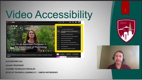 Thumbnail for entry Video Accessibility Improves Learning