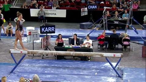 Thumbnail for entry Maddie Karr - Beam (9.900) - 2020 DU Gymnastics vs. Washington, San Jose State & Alaska
