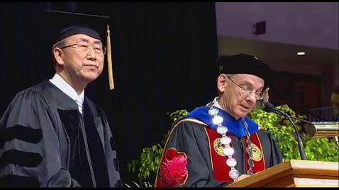 2013 Graduate Commencement Ceremony at the University of Denver with  Ban Ki-Moon, Secretary-General of the United Nations
