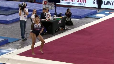 Thumbnail for entry AK Subject - Floor (9.800) - 2020 DU Gymnastics vs. Washington, San Jose State & Alaska