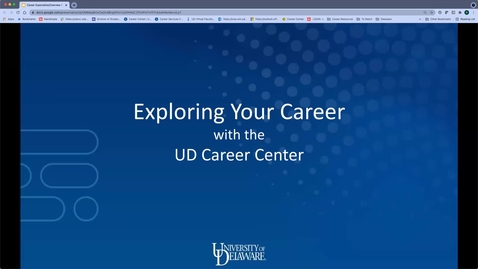 Thumbnail for entry Career Exploration/Overview for UNIV101_2021-2022
