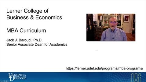 Thumbnail for entry Lerner MBA New Graduate Student Orientation - Jack Baroudi