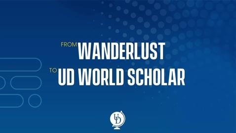 Thumbnail for entry World Scholars Program Information Session
