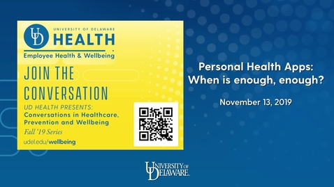 Thumbnail for entry 2019 Conversations in Healthcare_Personal Health Apps.mp4