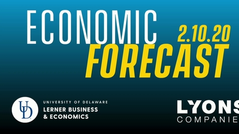 Thumbnail for entry 2020 CEEE Lyons Economic Forecast.mp4