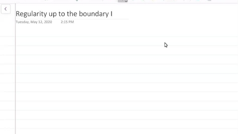 Thumbnail for entry Regularity up to the boundary I
