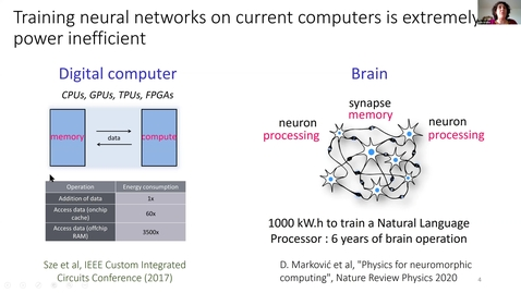 Thumbnail for entry Julie Grollier Nanodevices for bio-inspired computing 2021/3/17 | Physics for neuromorphic computing