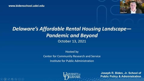 Thumbnail for entry Delaware's Affordable Rental Housing Landscape—Pandemic and Beyond
