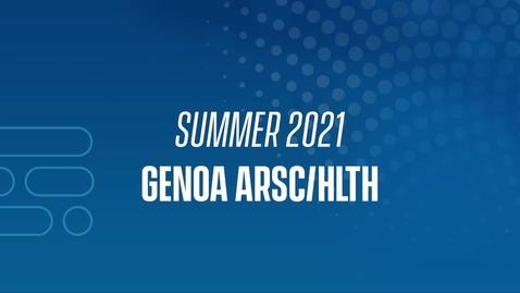 Thumbnail for entry 21J Genoa ARSC/HLTH