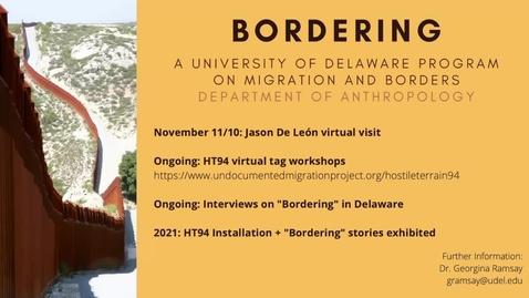 Thumbnail for entry Bordering (De Leon Talk) 11_10_20