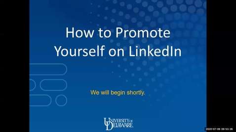 Thumbnail for entry How to Promote Yourself on LinkedIn
