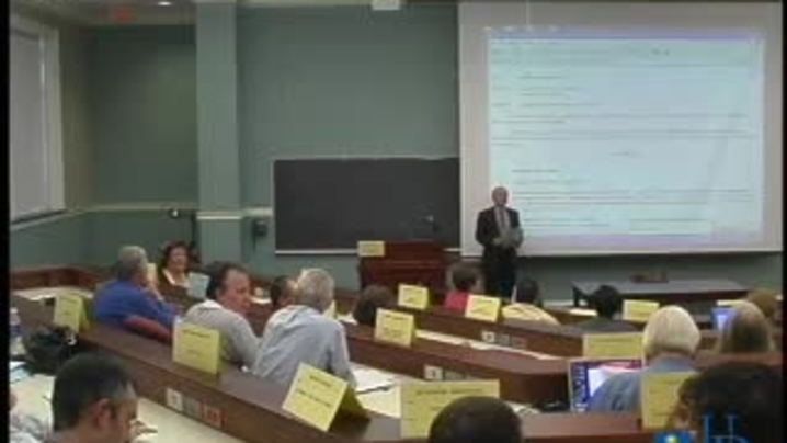 Thumbnail for channel Faculty Senate Meetings 2006 - 2007