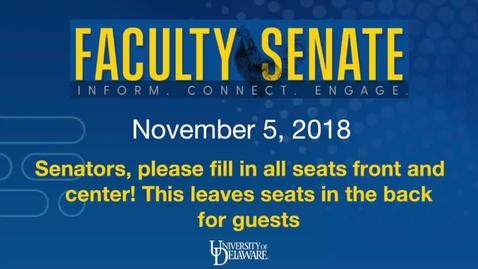 Thumbnail for entry 2018-2019/videos/Faculty Senate Nov 5th 2018.mp4