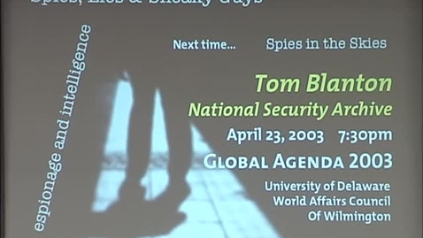 Thumbnail for entry Global Agenda_4-9-2003_William Nolte