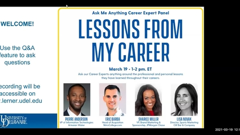 Thumbnail for entry Lessons from my Career: Ask Me Anything Career Panel