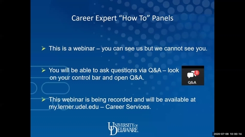 Thumbnail for entry How to Promote Yourself on LinkedIn: Career Expert Panel Webinar