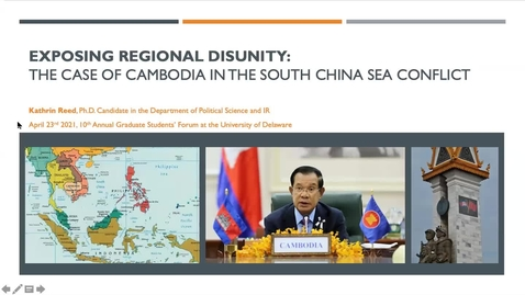Thumbnail for entry Exposing Regional Disunity: The Case of Cambodia in the South China Sea Conflict, Kathrin Reed