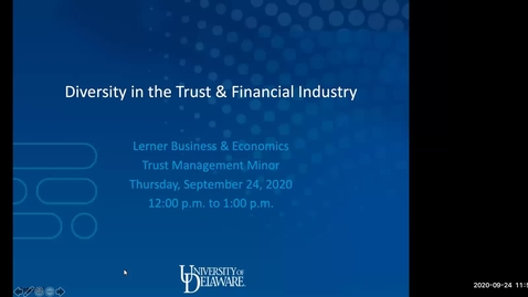 Thumbnail for entry Diversity in the Trust Financial Industry 9-24-2020
