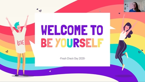 Thumbnail for entry Fresh Check Week: Be Yourself