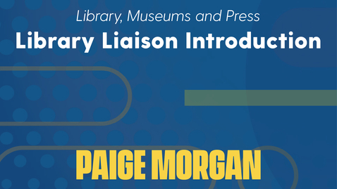 Thumbnail for entry Paige Morgan Introduction