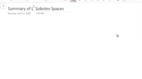 Thumbnail for entry Summary of L^2 Sobolev Spaces