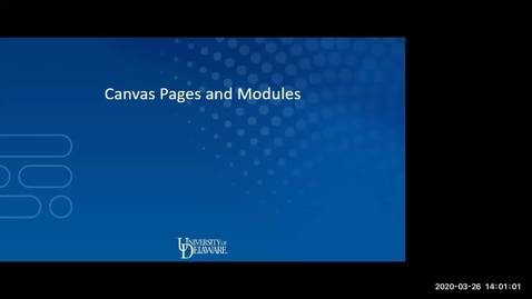 Thumbnail for entry  Canvas Pages and Modules