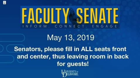 Thumbnail for entry 2018-2019/videos/Faculty Senate Meeting May 13th 2019.mp4