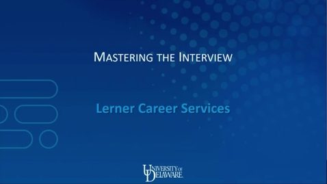 Thumbnail for entry Mastering the Interview - March 2019