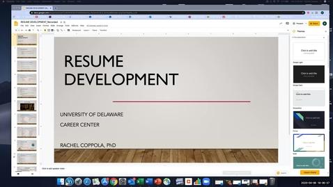 Thumbnail for entry Resume Development_RC