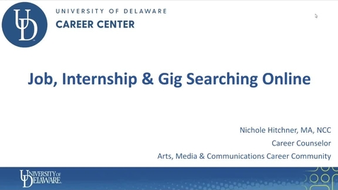 Thumbnail for entry Job Internship Search F21.mov