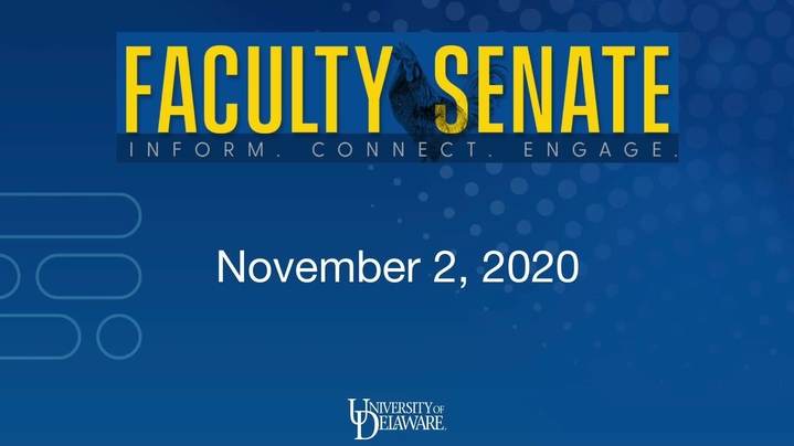 Thumbnail for channel Faculty Senate Meetings 2020 - 2021