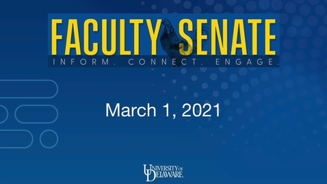 Thumbnail for entry Regular Meeting of the Faculty Senate - March 1st 2021