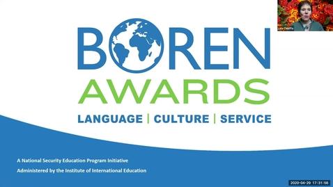 Thumbnail for entry Boren Award Information Session