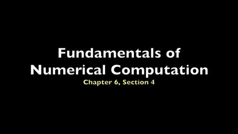 Thumbnail for entry FNC 6.4: Runge-Kutta methods