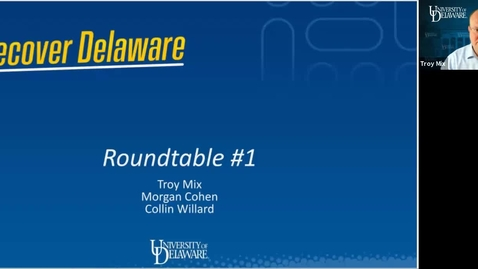 Thumbnail for entry Recover Delaware Roundtable #1