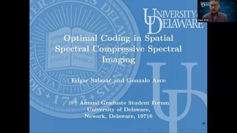Thumbnail for entry Optimal Coding in Compressive Spectral Imagers, Edgar Salazar