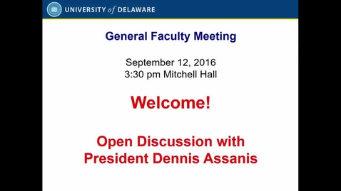 Thumbnail for entry 2016-2017/01Faculty Senate Meeting Sept 12th 2016 with video.mp4
