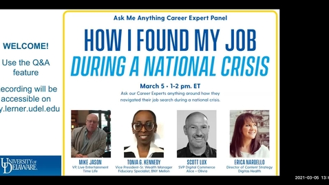 Thumbnail for entry How I Found My Job During a National Crisis