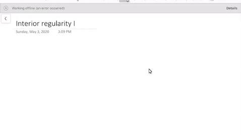 Thumbnail for entry Interior regularity I