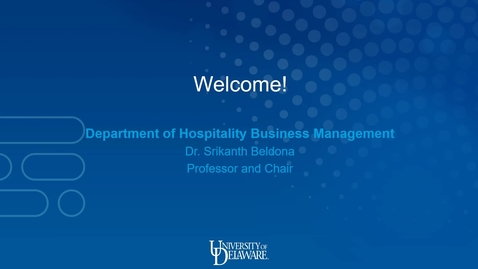 Thumbnail for entry Hospitality Business Management —Lerner College of Business and Economics