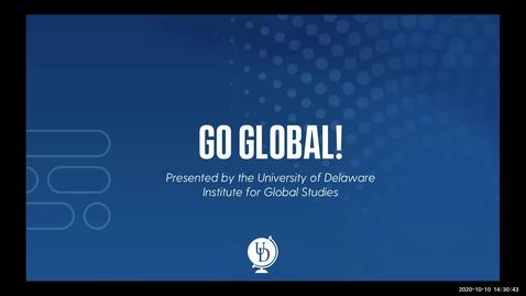 Thumbnail for entry Go Global! A Fall 2020 Blue & Golden Presentation