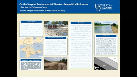 Thumbnail for entry On the Verge of Environmental Disaster: Geopolitical Failure on the North Crimean Canal, Mehmet Altingoz