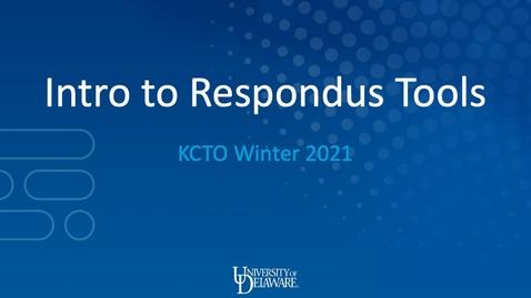 Thumbnail for entry Intro to Respondus Tools