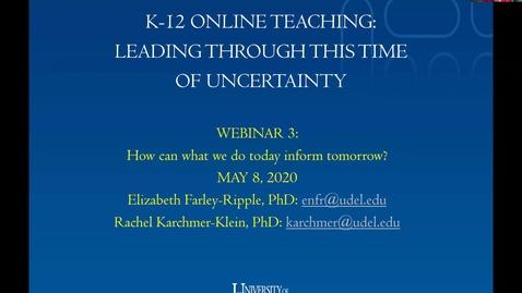 Thumbnail for entry K-12 Online Learning (3)